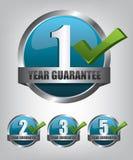 Grupo do botão da etiqueta da garantia Foto de Stock Royalty Free