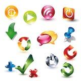 Grupo do botão do ícone Foto de Stock Royalty Free