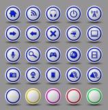 Grupo do botão do ícone da Web ilustração royalty free