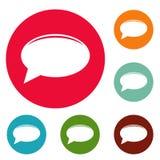 Grupo do círculo dos ícones do bate-papo Imagem de Stock