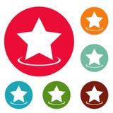 Grupo do círculo dos ícones da estrela Foto de Stock