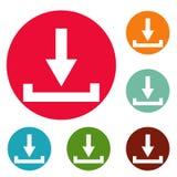 Grupo do círculo dos ícones da transferência Foto de Stock