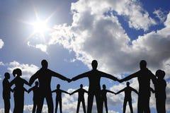 Grupo do círculo dos povos Fotografia de Stock