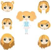 Grupo do cabelo louro Fotografia de Stock Royalty Free
