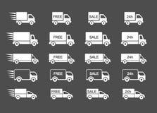 Grupo do caminhão de entrega Imagens de Stock