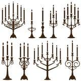 Grupo do candelabro ilustração stock