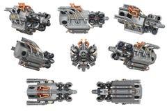 Grupo do carro do motor da ficção científica ilustração stock