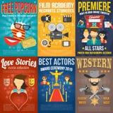 Grupo do cartaz cinematográfico Fotos de Stock