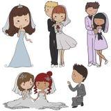 Grupo do casamento Fotografia de Stock