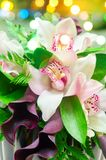 Grupo do casamento de flores Fotografia de Stock Royalty Free