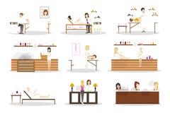 Grupo do centro dos termas ilustração stock