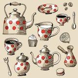 Grupo do chá e de café Imagens de Stock Royalty Free