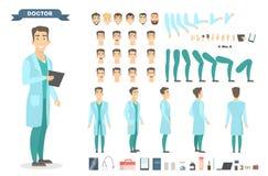 Grupo do chaeacter do doutor ilustração royalty free