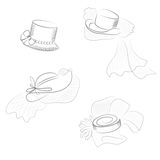 Grupo do chapéu Foto de Stock