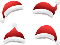 Grupo do chapéu de Santa Imagens de Stock Royalty Free