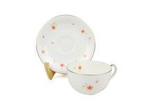 Grupo do chinês de copos de chá no fundo branco Imagem de Stock