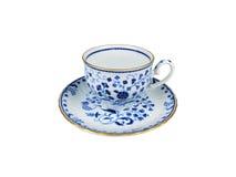 Grupo do chinês de copos de chá no fundo branco Imagem de Stock Royalty Free