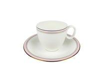 Grupo do chinês de copos de chá no fundo branco Fotografia de Stock Royalty Free