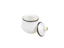 Grupo do chinês de copos de chá no fundo branco Fotos de Stock