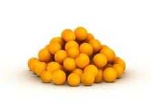 Grupo do citrino alaranjado Ilustração Stock