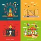 Grupo do conceito do Funfair ilustração royalty free
