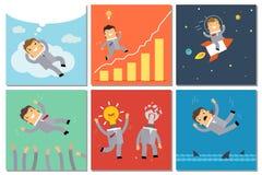 Grupo do conceito do negócio ilustração royalty free