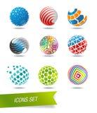 Grupo do ícone da esfera Imagem de Stock Royalty Free