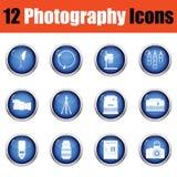 Grupo do ícone da fotografia Foto de Stock