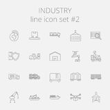 Grupo do ícone da indústria Fotografia de Stock