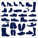 Grupo do ícone da silhueta Imagem de Stock Royalty Free