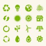 Grupo do ícone de Eco. Fotografia de Stock