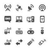 Grupo do ícone de uma comunicação da tecnologia sem fios, vetor eps10 Imagens de Stock Royalty Free