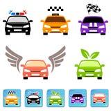 Grupo do ícone do carro Imagens de Stock