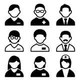 Grupo do ícone do doutor Fotografia de Stock Royalty Free