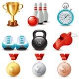 Grupo do ícone do esporte Imagem de Stock Royalty Free