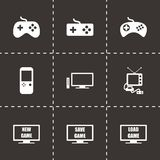 Grupo do ícone do jogo de vídeo do vetor Imagens de Stock