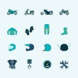 Grupo do ícone do motociclista Foto de Stock