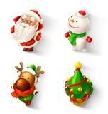 Grupo do ícone do Natal Fotos de Stock