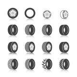 Grupo do ícone do pneu Imagem de Stock Royalty Free
