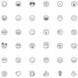 Grupo do ícone do smiley Fotos de Stock