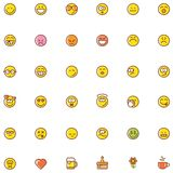 Grupo do ícone do smiley Imagens de Stock Royalty Free