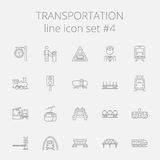 Grupo do ícone do transporte Imagens de Stock Royalty Free