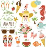 Grupo do ícone do verão Foto de Stock Royalty Free