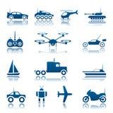 Grupo do ícone dos brinquedos do controlo a distância Fotografia de Stock
