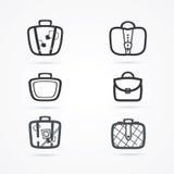 Grupo do ícone dos sacos Imagens de Stock Royalty Free