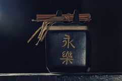 Grupo do copo de chá do zen isolado Fotos de Stock