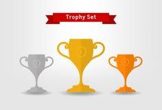 Grupo do copo do troféu Foto de Stock Royalty Free