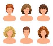 Grupo do corte de cabelo Imagens de Stock