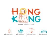 Grupo do curso de Hong Kong, China, Buda Imagens de Stock