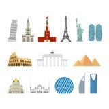 Grupo do curso do marco Monumentos arquitetónicos Estado conhecido de bui Imagens de Stock